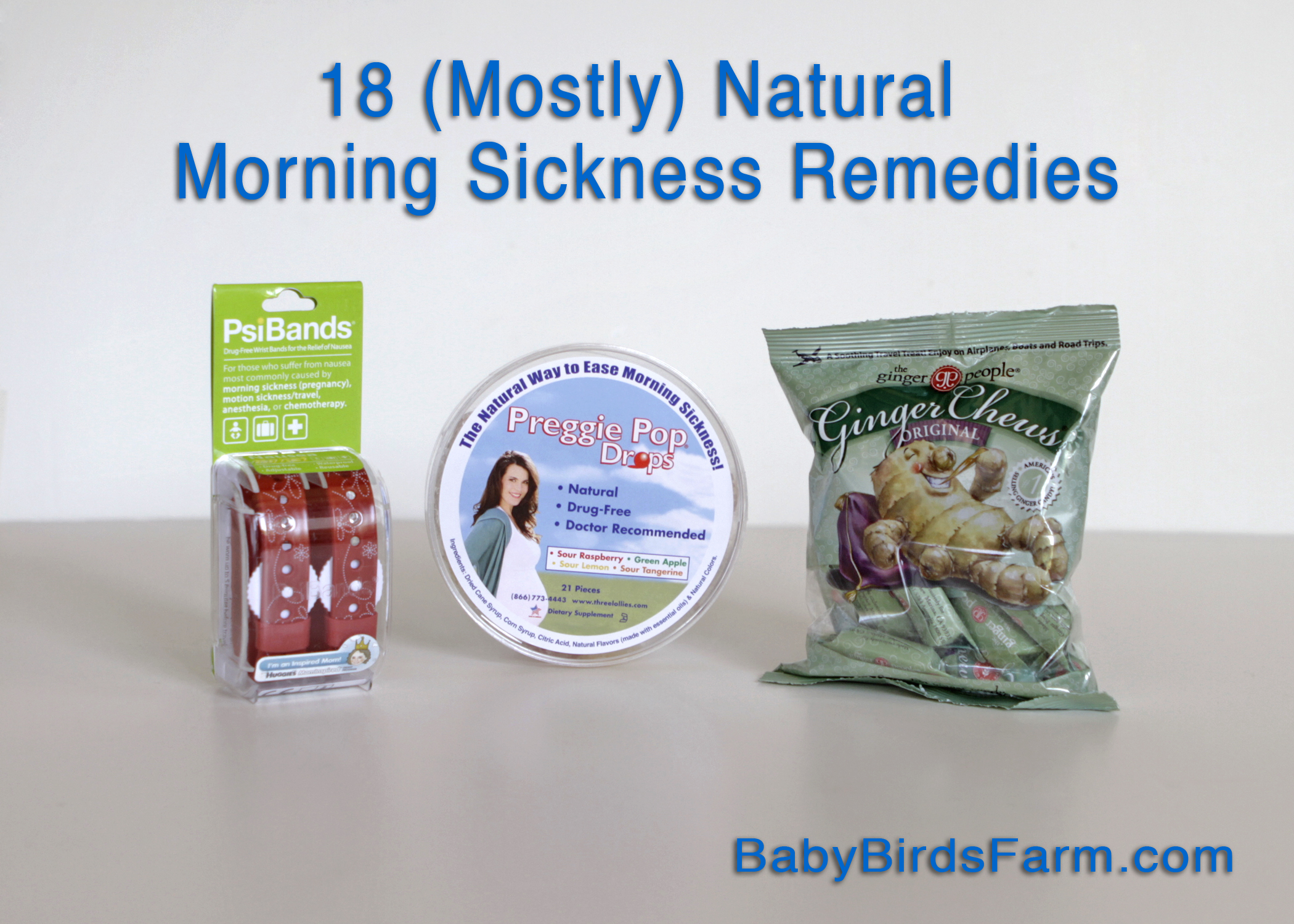 mama bird's big list of (mostly) natural morning sickness remedies