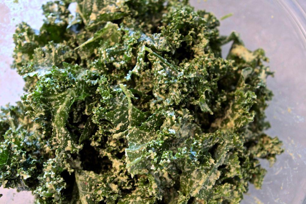 Cilantro Lime Kale Chips - Baby Bird's Farm and Cocina