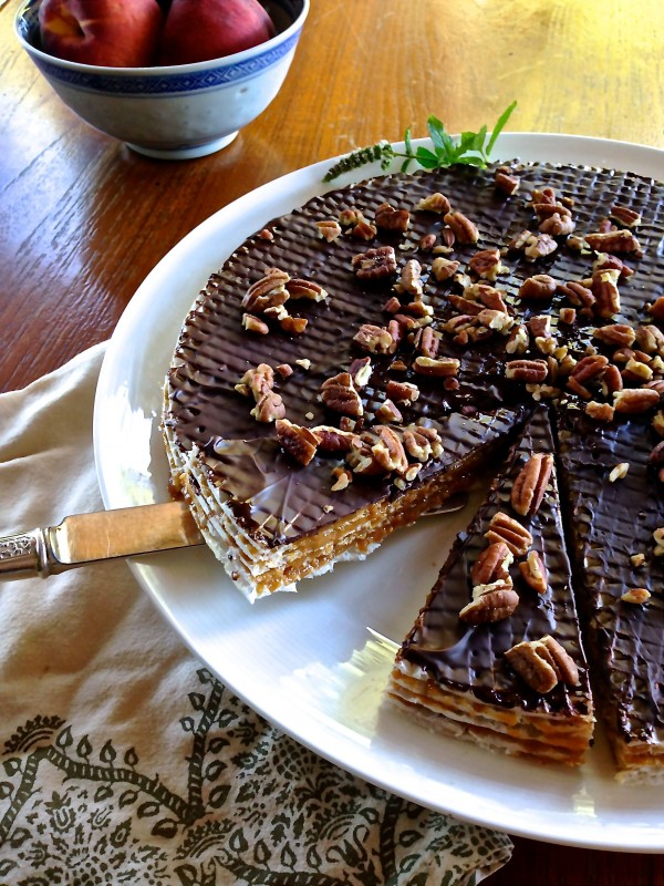Caramel Torte Recipe with Chocolate and Pecans - Baby Bird's Farm and ...