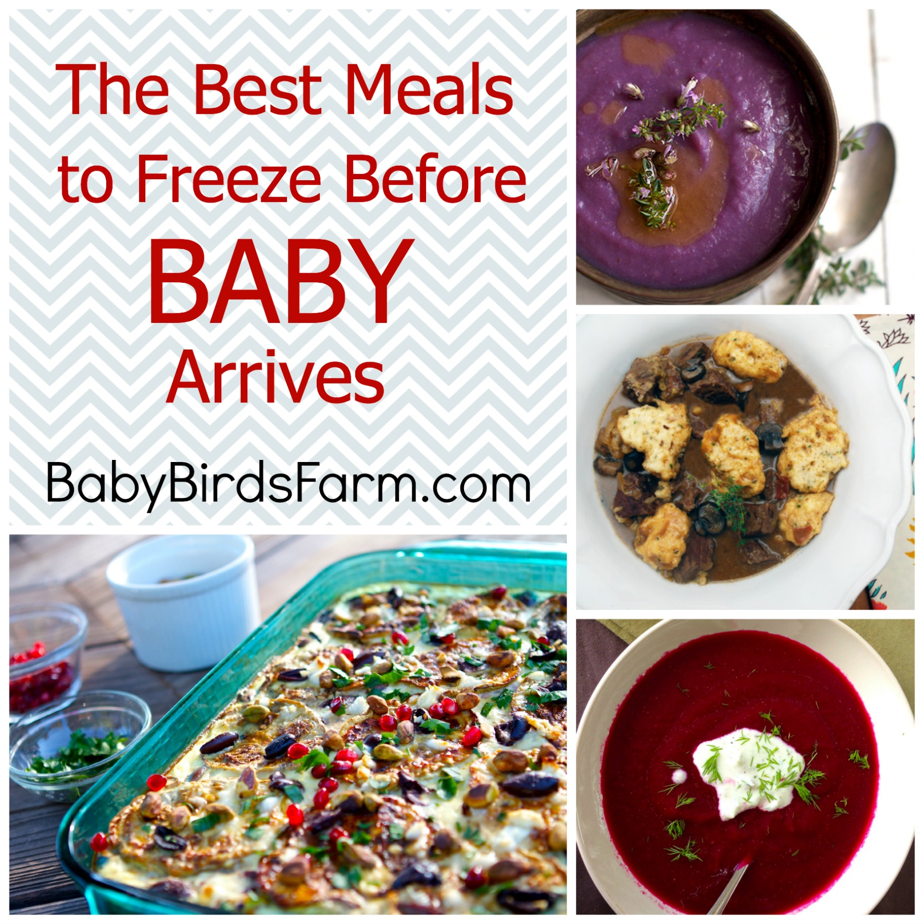 Healthy meals to freeze before baby arrives
