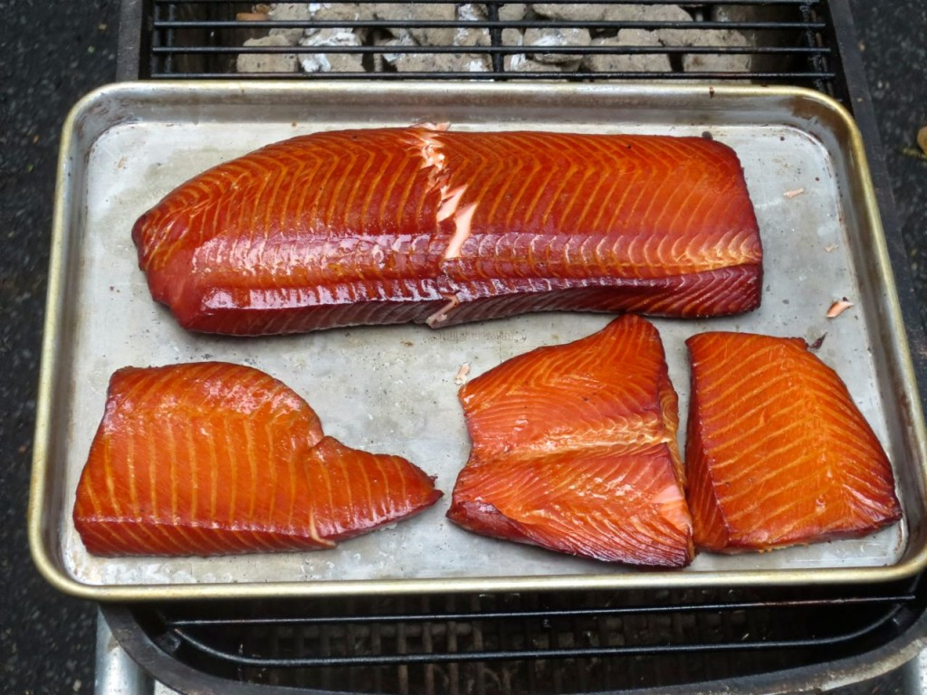 apple wood smoked salmon from the master and father's day