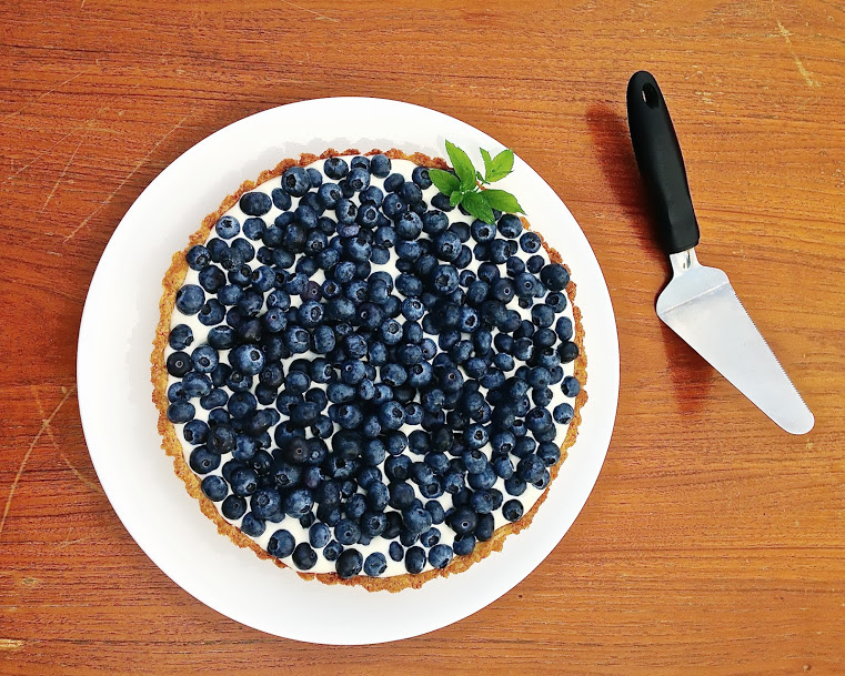 Blueberry Marscapone Tart