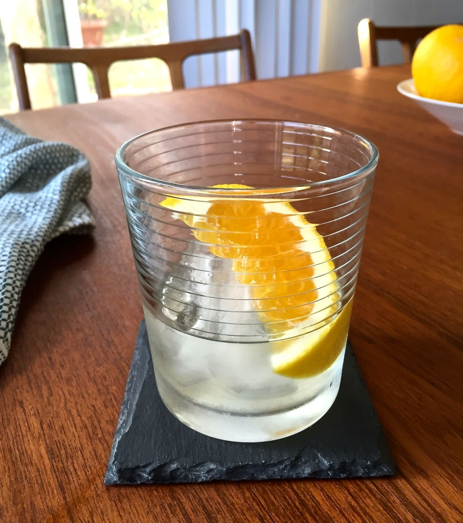 vermouth bianco and grapefruit
